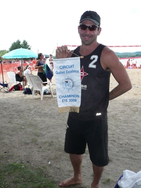 Jean-Patrick Godbout awarded the 2008 Quebec beach volleyball season champion.