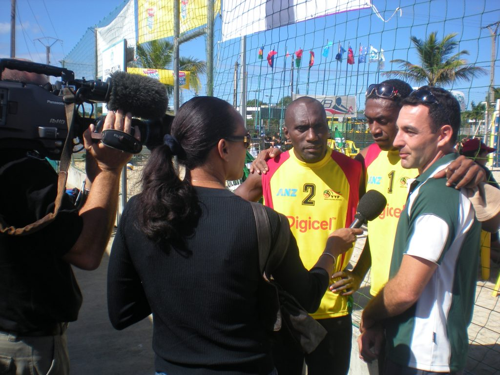 Interview with Jean-Patrick Godbout at the 2010 Oceania Beach Volleyball Championship in Noumea, New-Caledonia.