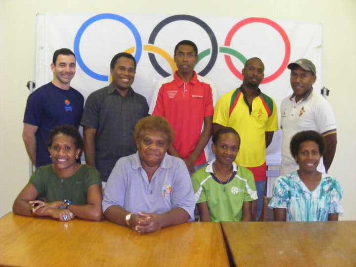 Jean-Patrick Godbout in 2010 with the Vanuatu National Olympic Committee.