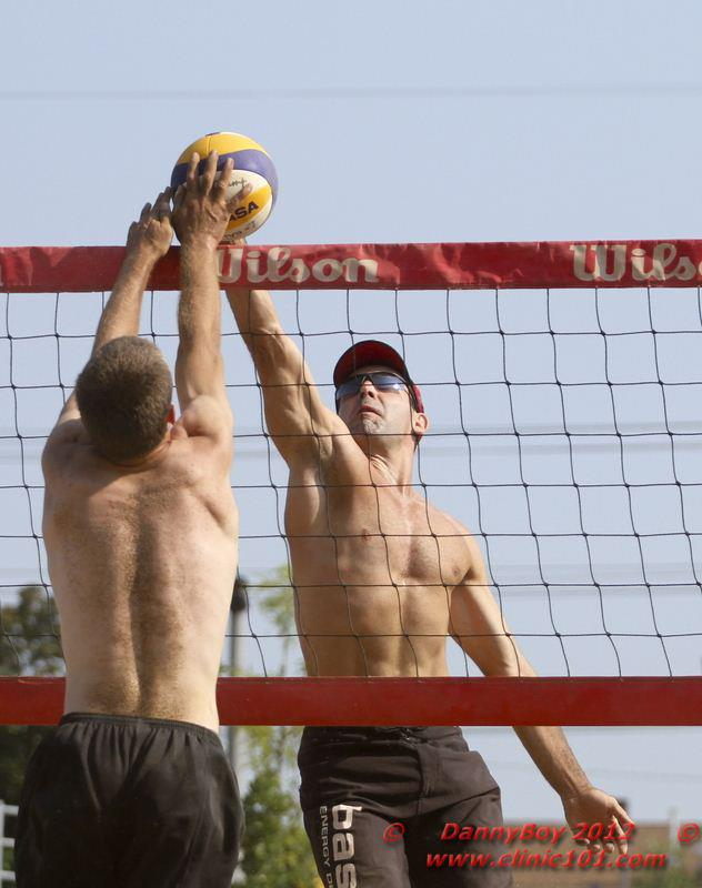 Jean-Patrick Godbout playing beach volleyball in 2012 with the Mikasa VLS-300.