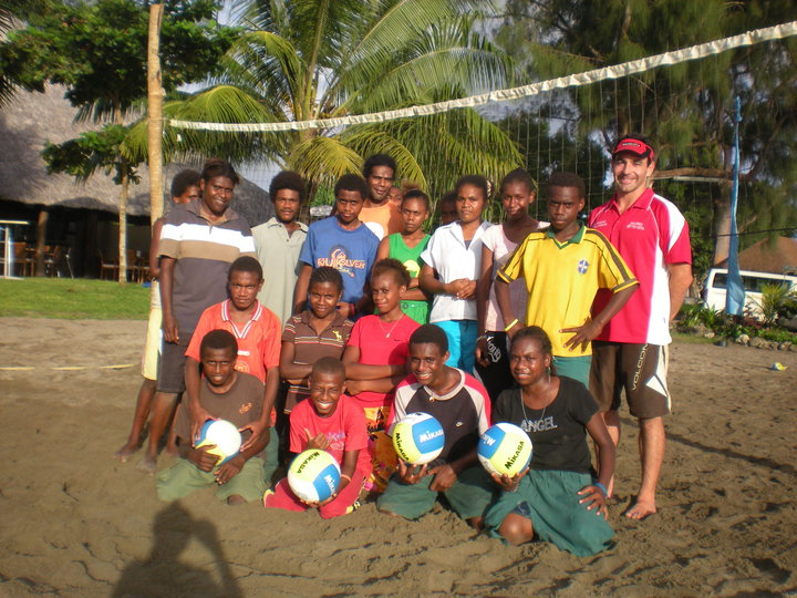 Coaching Beach Volleyball in Vanuatu in 2010