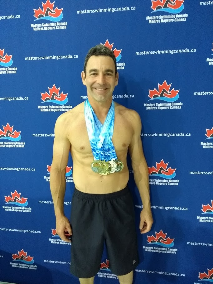 JP Godbout at the 2019 Canadian Master Swimming Championship in Montreal